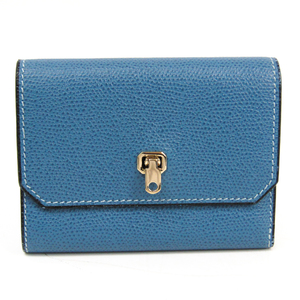 ヴァレクストラ(Valextra) V9L28 レディース  カーフスキン 財布(三つ折り) ブルー