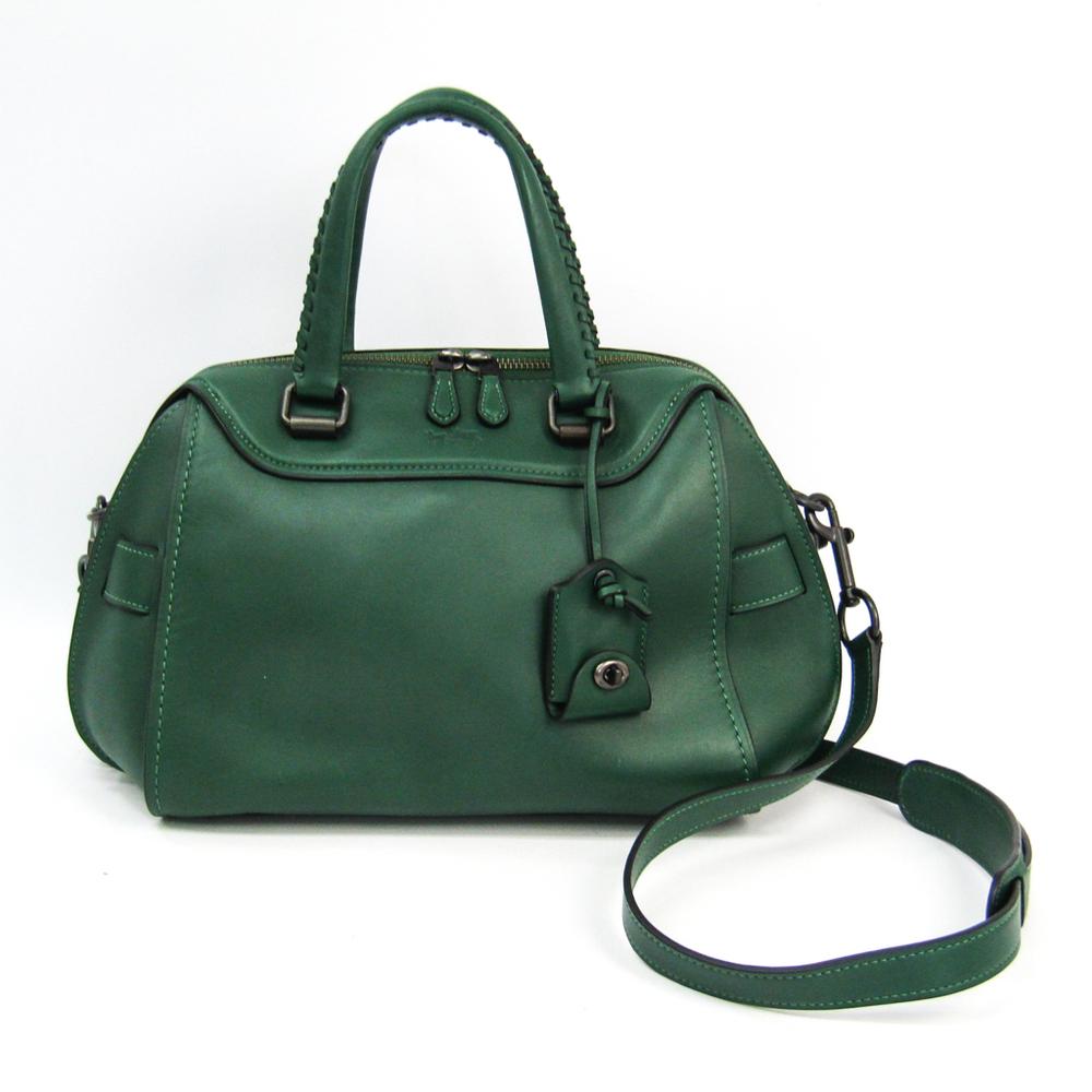 Coach Ace Satchel 37017 Women's Leather Handbag,Shoulder Bag Green