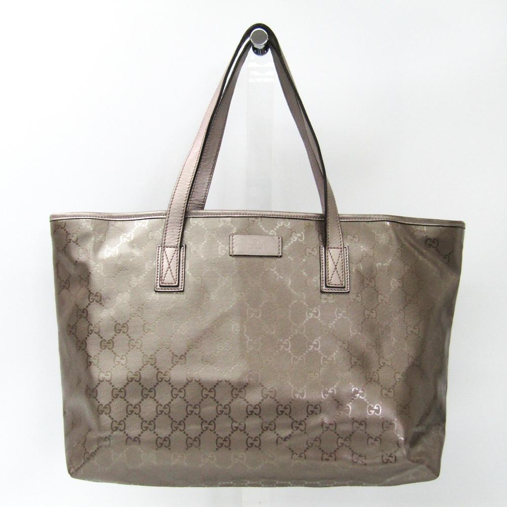 Gucci GG Imprimé 211137 Women's GG Imprimé Handbag,Tote Bag Bronze