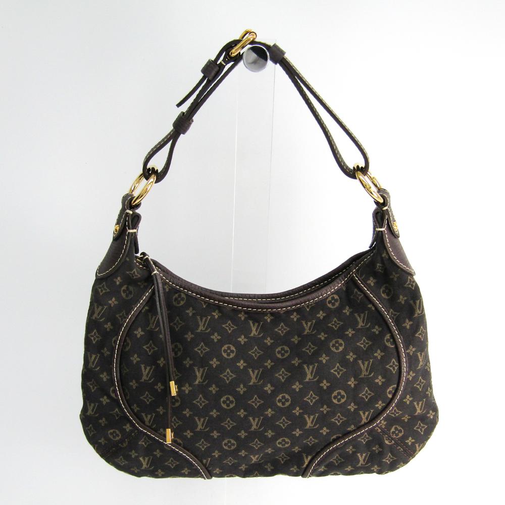 Louis Vuitton Monogram Mini Lin Manon PM M95621 Women's Shoulder Bag Ebene