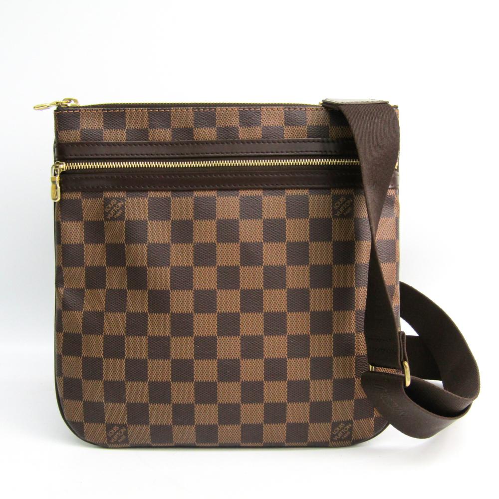 Louis Vuitton Damier Pochette Bosphore N51111 Women's Shoulder Bag Ebene