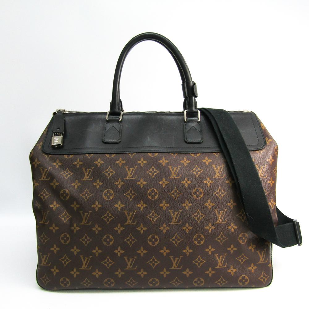 Louis Vuitton Monogram Macassar M51716 Neo Greenwich Men's Boston Bag,Shoulder Bag Monogram Macassar