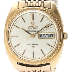 Omega Constellation Automatic Pink Gold Plated Men's Dress Watch 168.029