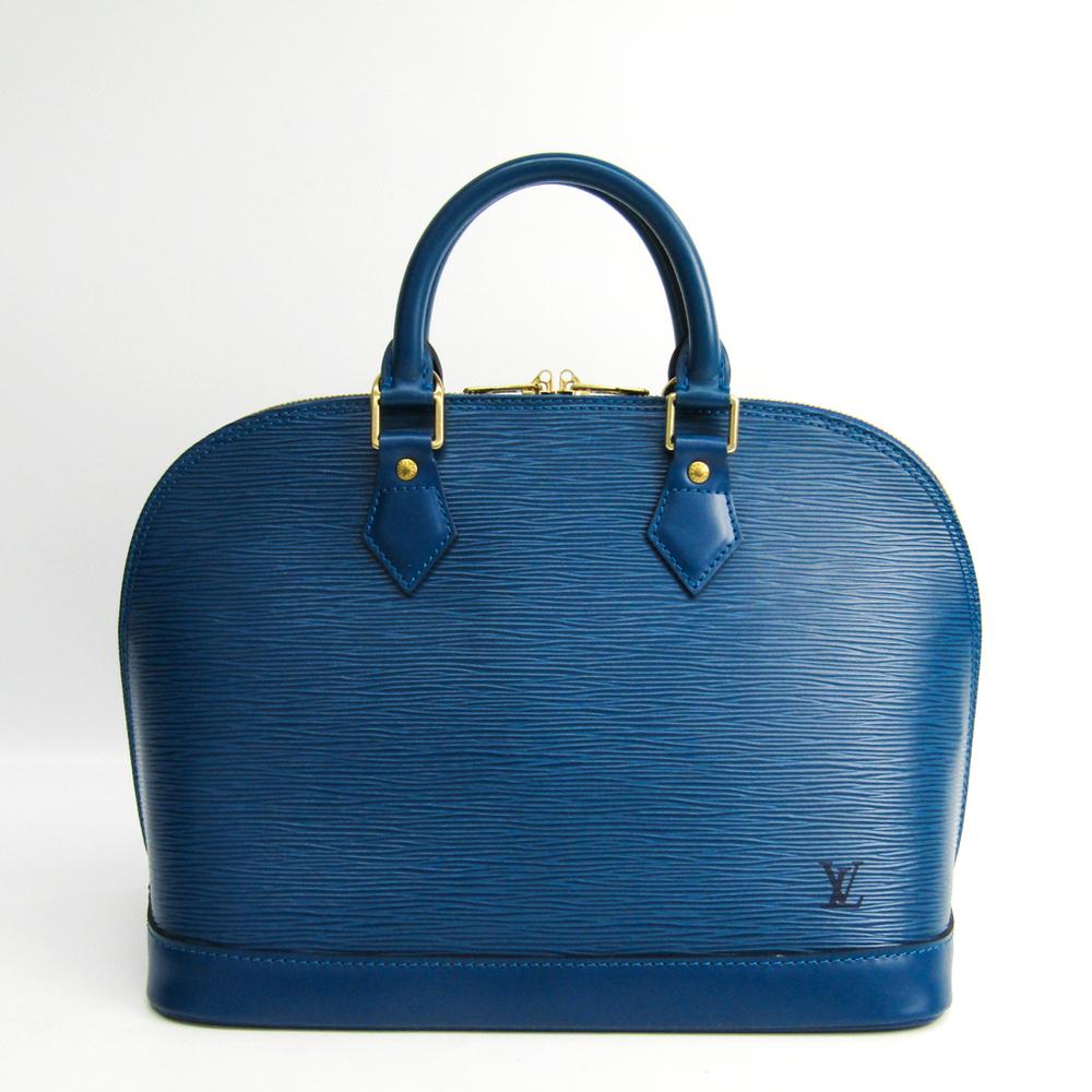 Louis Vuitton Epi Alma M52145 Handbag Toledo Blue