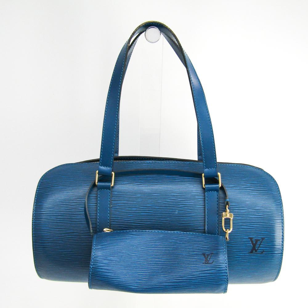 Louis Vuitton Epi Soufflot M52225 Handbag Toledo Blue