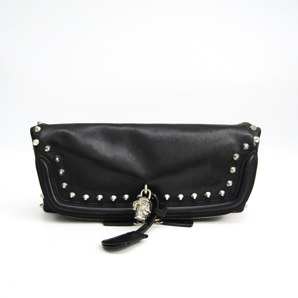 Alexander Wang 544483-313917 Unisex Leather Clutch Bag Black
