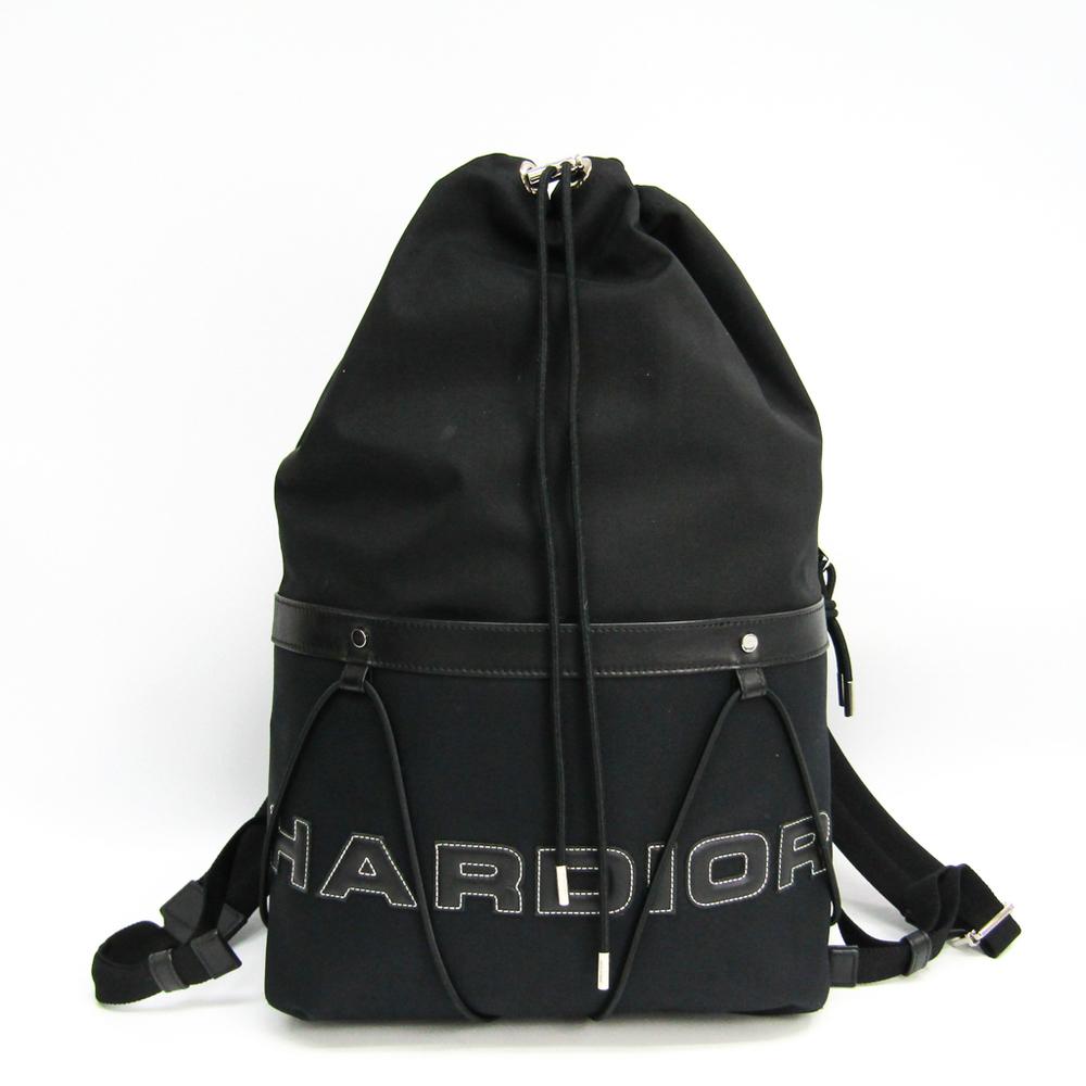 Dior Homme HARDIOR Backpack 1HABAOSSXUM Unisex Nylon,Leather Backpack Black