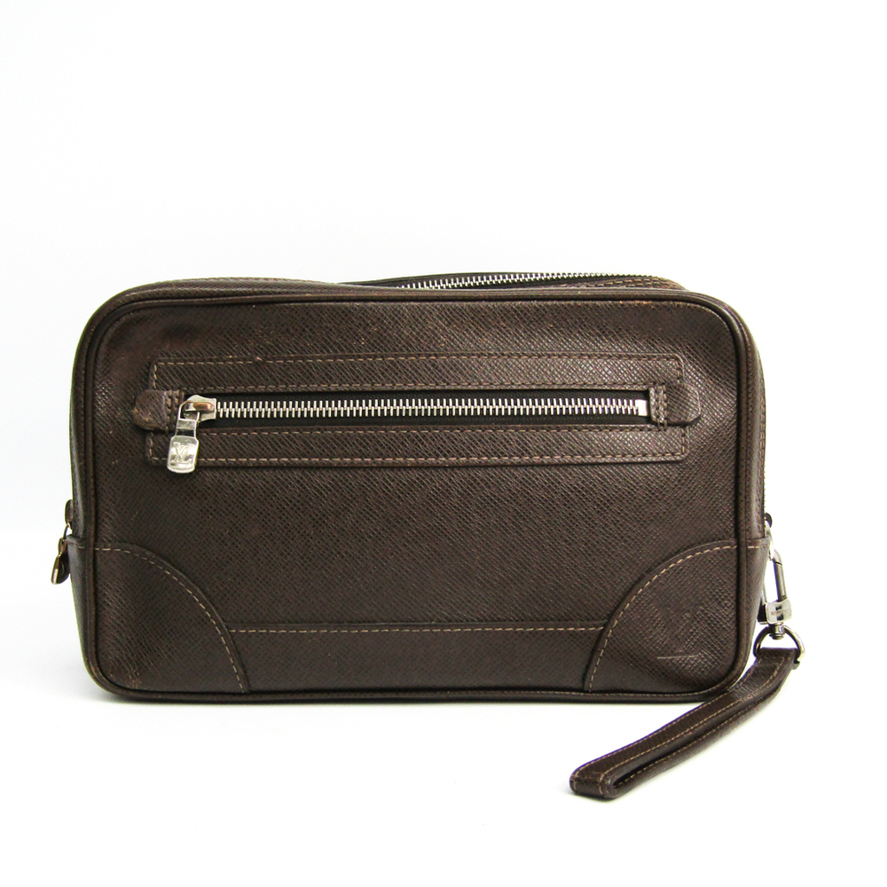 Louis Vuitton Taiga Pavel M31148 Men's Clutch Bag Grizzly