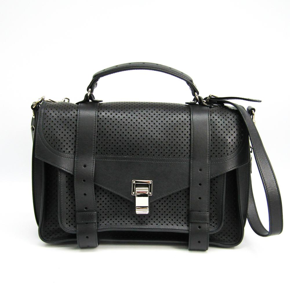 Proenza Schouler H00268 Women's Leather Handbag,Shoulder Bag Black