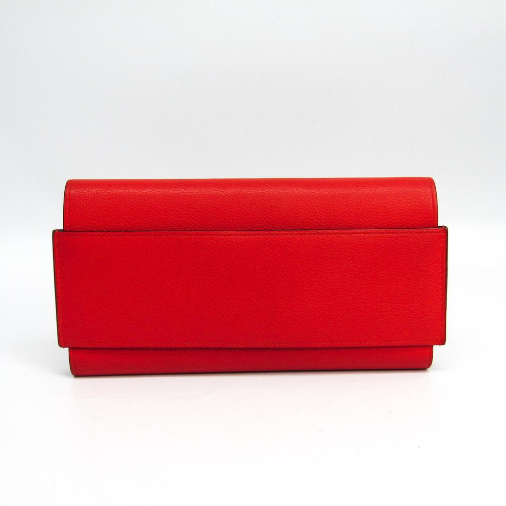 エルメス(Hermes) パッサン ロング レディース レザー 長財布(二つ折り) レッド