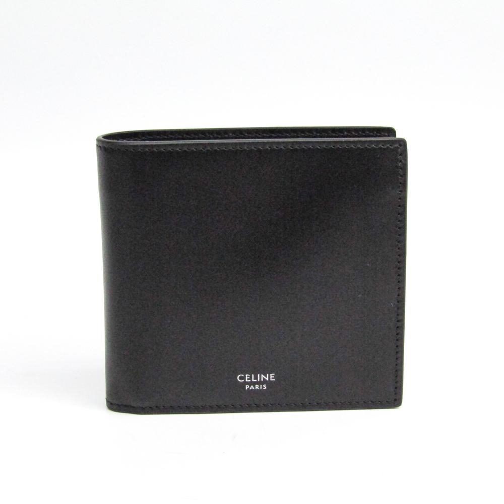Celine バイフォールド 10B653BGO Unisex  Calfskin Wallet (bi-fold) Black