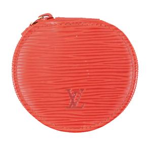 Auth Louis Vuitton Epi Ecrin M48217 Jewelry Case Castilian Red Epi Leather