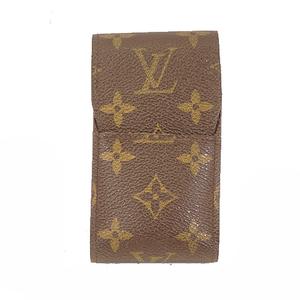 Auth Louis Vuitton Monogram Cigarette Case Eteyui cigarette M63024