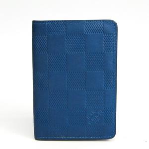 ルイ・ヴィトン(Louis Vuitton) ダミエアンフィニ オーガナイザードゥポッシュ N63204 ダミエアンフィニ カードケース ブルーアンフィニ