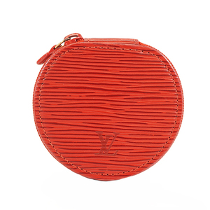 Auth Louis Vuitton Epi Ecrin Bijoux M48227 Jewelry Case Castilian Red