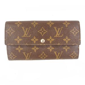 Auth Louis Vuitton Bi-Fold Wallet Monogram Portefeuille Sarah M61734