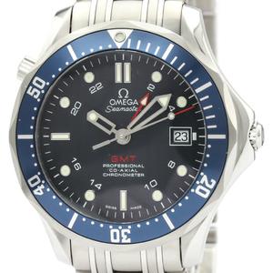 【OMEGA】オメガ シーマスター GMT コーアクシャル ステンレススチール 自動巻き メンズ 時計 2535.80