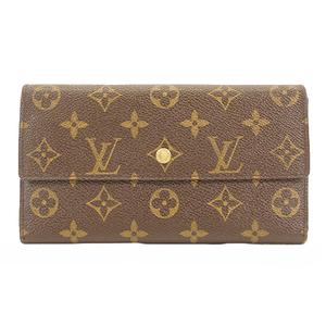 Auth Louis Vuitton Monogram M61215 Men,Women,Unisex Monogram Long Wallet (tri-fo