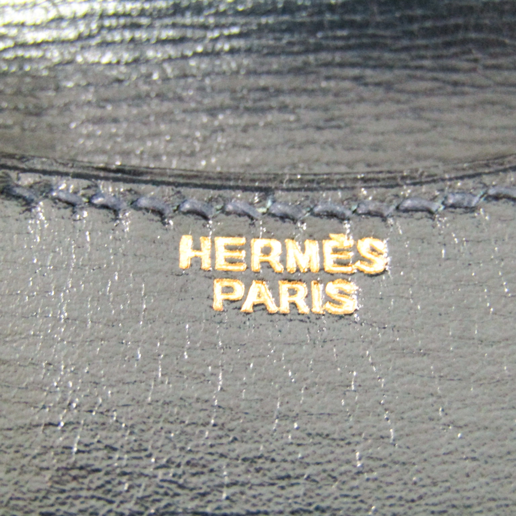 エルメス(Hermes) ブルゴーニュ メンズ ボックスカーフ 小銭入れ・コインケース ネイビー