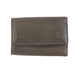 Louis Vuitton Epi Multicles6 M63812 Men,Women,Unisex Epi Leather Key Case Black