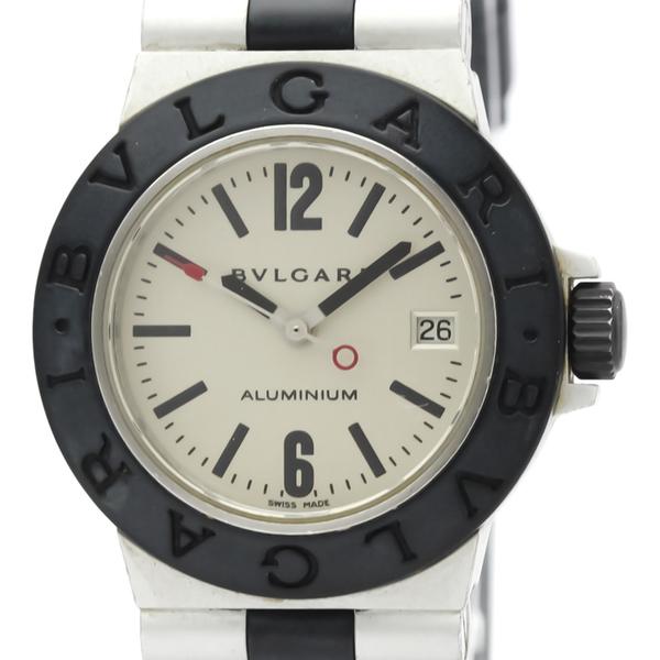 【BVLGARI】ブルガリ アルミニウム ラバー クォーツ レディース 時計 AL29A