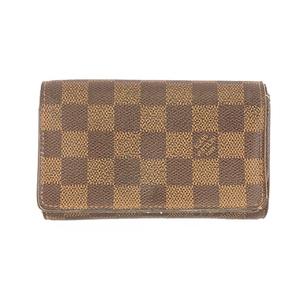 ルイヴィトン 二つ折り財布 ダミエ ポルトモネビエトレゾール N61730