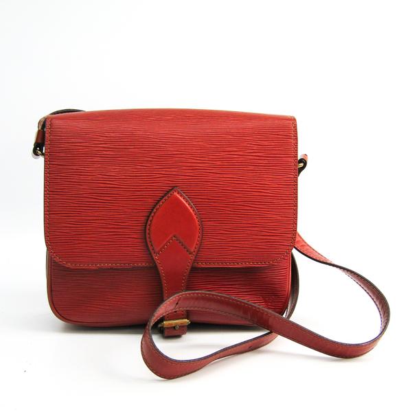 Louis Vuitton Epi Cartouchiere Women's Shoulder Bag Kenyan Brown