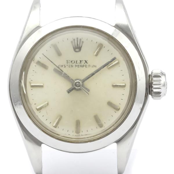 ロレックス(Rolex) オイスターパーペチュアル 自動巻き ステンレススチール(SS) レディース ドレスウォッチ 6618