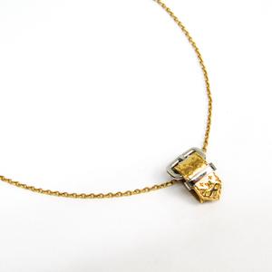 ルイ・ヴィトン(Louis Vuitton) メタル レディース ネックレス (ゴールド,シルバー) モノグラム ベルトモチーフ M64703