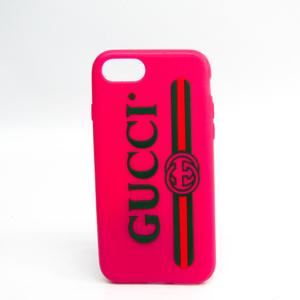 グッチ(Gucci) グッチヴィンテージロゴ 499320 ラバースマホ・携帯ケース iPhone 7 対応 グリーン,ピンク,レッド