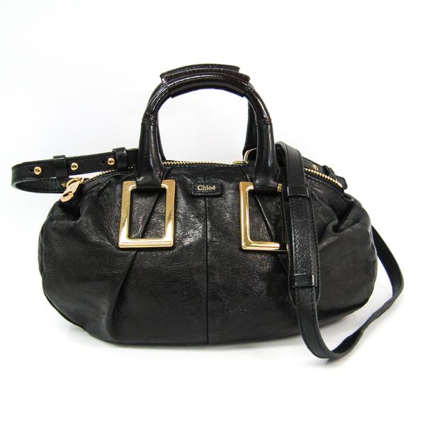 Chloé Ethel 3S0649 Women's Leather Handbag,Shoulder Bag Black