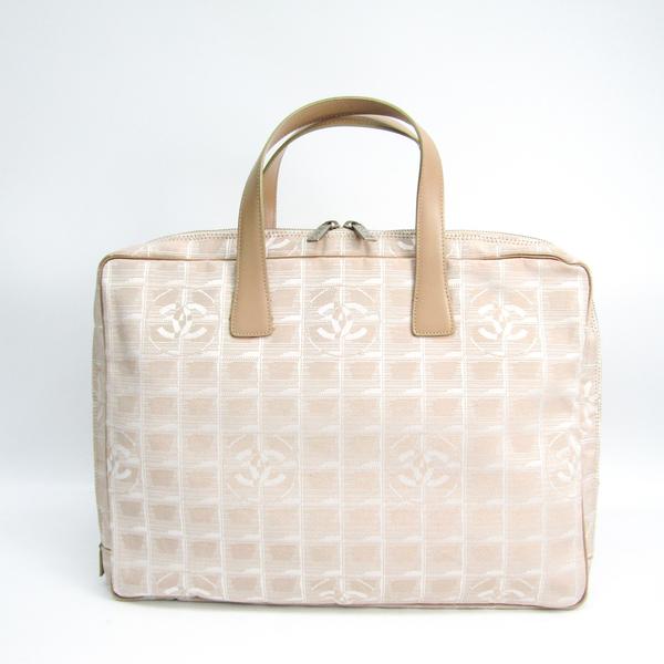 Chanel New Travel Line A15974 Unisex New Travel Line,Leather Handbag Beige