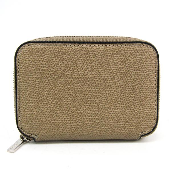 Valextra V2L10 Leather Card Case Grayish