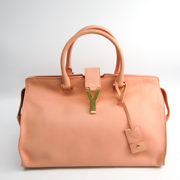 Yves Saint Laurent Cabass Classic Y 311208 Women's Leather Handbag Light Pink