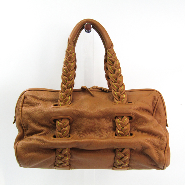 Bottega Veneta 131682 Women's Leather Tote Bag Camel