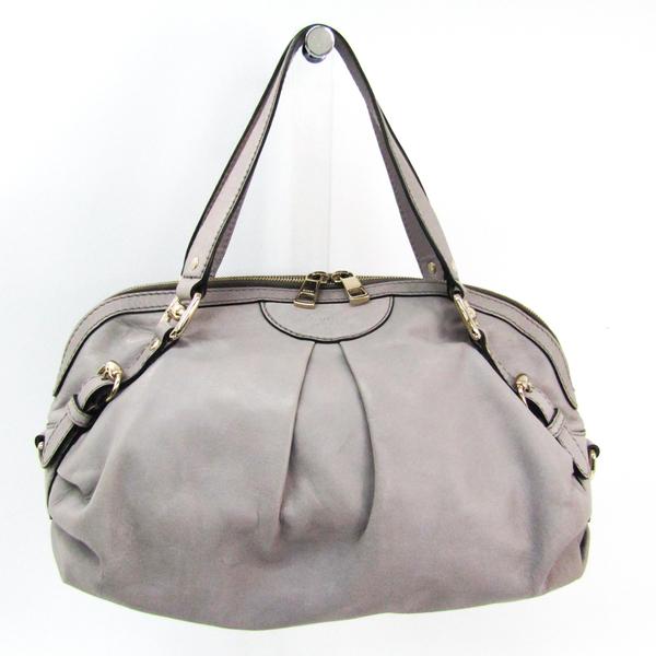 Gucci Diamante 269930 Women's Leather Tote Bag Light Gray