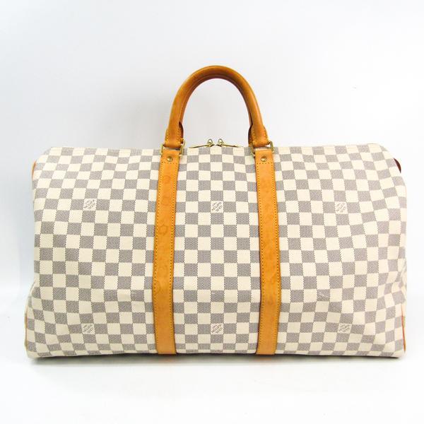 ルイ・ヴィトン(Louis Vuitton) ダミエ キーポル50 N41430 ボストンバッグ アズール