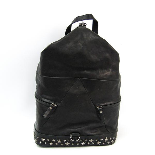 Jimmy Choo FITZROY Fitz Roy Star Studs Men's Leather Backpack Black