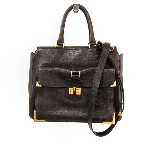 Fendi Classico No. 3 8BN221 Women's Leather Handbag,Shoulder Bag Brown
