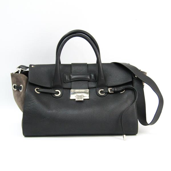 Jimmy Choo Women's Leather,Suede Handbag,Shoulder Bag Gray,Light Gray