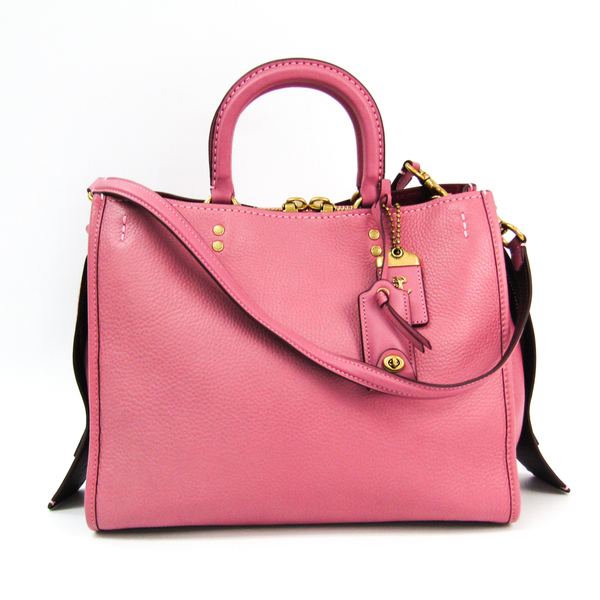 Coach Rogue In Glovetanned Pebble Leather 38124 Women's Leather Handbag Pink