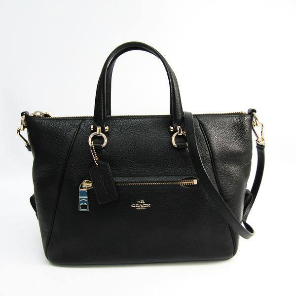 Coach Limrose Satchel 37934 Women's Leather Handbag,Shoulder Bag Black