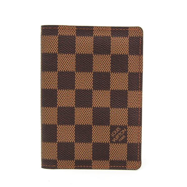 ルイ・ヴィトン(Louis Vuitton) ダミエ クーヴェルテュール・パスポール N60188 ダミエキャンバス パスポートケース エベヌ