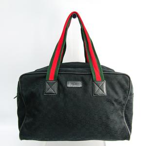 グッチ(Gucci) シェリーライン 153240 ユニセックス GGキャンバス,レザー ボストンバッグ ブラック,グリーン,レッド