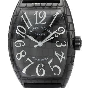Franck Muller Cintree Curvex Automatic Stainless Steel Men's Dress Watch 9880SC BLK CRO