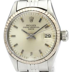 【ROLEX】ロレックス オイスター パーペチュアル デイト 6517 K18 イエローゴールド ステンレススチール 自動巻き レディース 時計