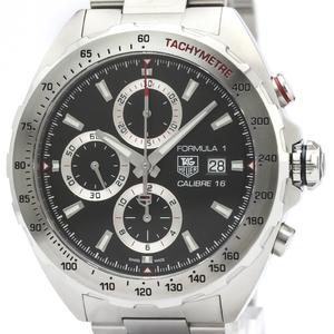 【TAG HEUER 】タグホイヤー フォーミュラー 1 キャリバー 16 クロノグラフ ステンレススチール 自動巻き メンズ 時計 CAZ2010