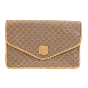 Celine Macadam Clutch Bag Women's PVC Clutch Bag Brown