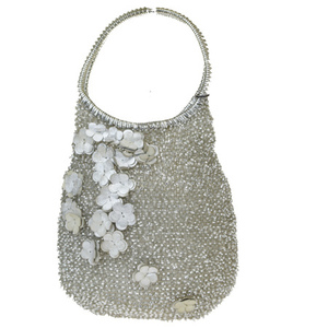 Anteprima Wire Rhinestone PVC,Leather Handbag Silver