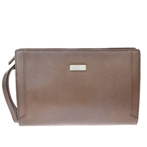 Burberry Leather Clutch Bag Brown